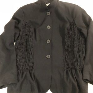 Black Coldwater Creek jacket with smocked sides